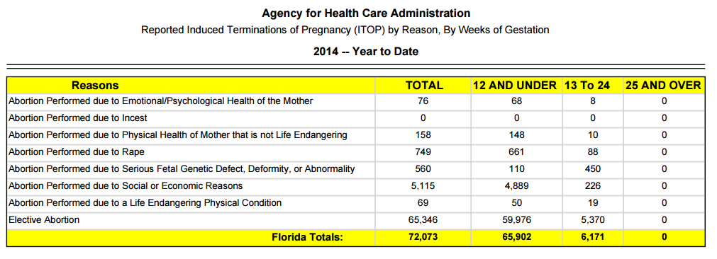 FL abortions by age